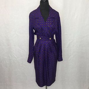 Maggy London vintage silk dress size 4